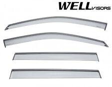 17-Up JEEP COMPASS WellVisors Side Window Visors w/ Black Trim