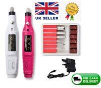 Electric Nail File Drill Portable Professional Manicure Pedicure Machine Set Kit