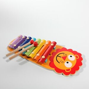 Wooden musical Lion & Monkey xylophone for toddlers and babies UK store