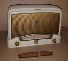 VINTAGE 1940s ANTIQUE CROSLEY CABINET MODEL 9-104W OLD ART DECO RADIO WORKING