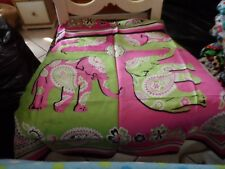 Vera Bradley Pink Elephant silk scarf