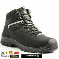 NEW MENS TERRA S3 WATERPROOF SAFETY WORK BOOTS SHOES HIKER STEEL TOE CAP SIZE