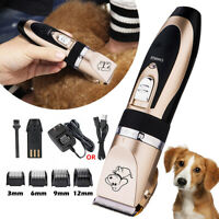 USB Professional Pet Dog Cat Clippers Hair Grooming Cordless Fur Trimmer Shaver