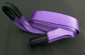 2M 4X4 RECOVERY WINCH EXTENSION TOWING ROPE STRAPS TREE STROP 7 TON VIOLET