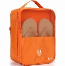 Stylish Convenient Travel Shoe Bag Orange Protects Clothes From Dirt & Smell