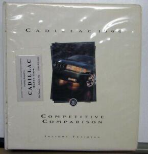 1995 Cadillac Competitive Comparison Dealers Album Seville DeVille Eldorado
