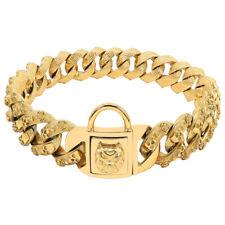 Heavy Duty Dog Choke Chain Collar Stainless Steel Choker Large Dogs Gold Pitbull