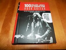 100 KILLER LICKS & CHOPS ROCK GUITAR Guitars Preform Music Rocker Book CD NEW