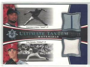2006 Cole Hamels Francisco Liriano Ultimate Collection Tandem Materials Jsy #/25