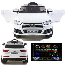 Audi Q7 Quattro Auto Bambino Vettura per Elettrica 2x Motori 12V Bianco