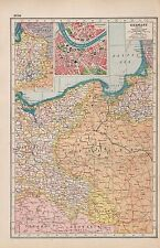 1920 MAP -POST WW1- GERMANY,EAST, INSET DRESDEN