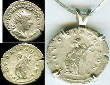 AD 243 Silver Denarius Coin Roman Teenager Emperor Gordian Victory Goddess Nike