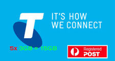 [ Clearance ] 5x Telstra 3GB 28 Days Sim Starter Pack Broadband Data Only Micro