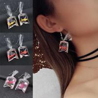 Creative Goldfish Water Bag Shape Dangle Hook Earrings Women Jewelry Xmas Decor