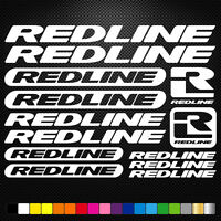 Redline 13 Stickers Autocollants Adhésifs - Vtt Velo Mountain Bike Dh Freeride