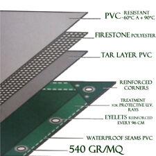 Telo Occhiellato Pesante PVC 540 gr/mq dimensioni metri 4x6 modello C