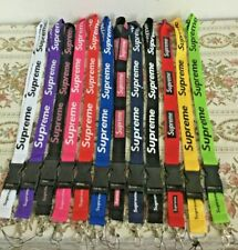 Supreme Lanyards Detachable Keychain ID Badge Phone Holder 12 Colors Available