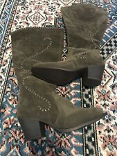 Womens Avenue CloudWalkers Olive Suede Tall Boots Wide Calf Size 8 NEW MSRP $110