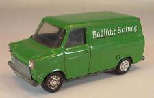 Schuco 1/66 Nr. 311 912 Ford Transit Kasten Badische Zeitung Werbemodell 1 #330