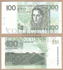 Slovacchia 100 KORUN 2015 UNC SPECIMEN TEST concetto nota delle banconote