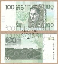 Slovakia 100 Korun 2015 UNC SPECIMEN Test Concept Note Banknote