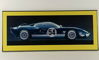 "1966 Ford GT40 MK ll Race Racing Car Custom Metal Frame Matted 38"" x 16"""