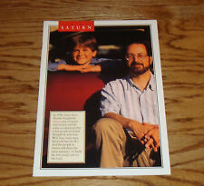 Original 1994 Saturn Full Line Sales Brochure 94 SL SL1 SL2 SW1 SW2 SC1 SC2
