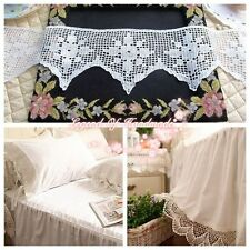 "5""*1y Vintage Hand Crochet Lace Trim White Mercerized Cotton Heirloom Quality"