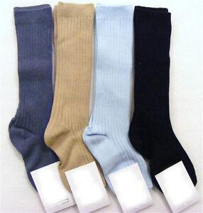 Baby Boys/Girls + Boys/Girls 3/4 Knee High Ribbed Socks Romany Spanish 0-6 Years