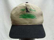Eagle Crest - Golf - Retro - Adjustable Strapback Ball Cap Hat!