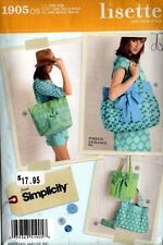 Simplicity Sewing Pattern 1905 Lisette Design Purses Totes Bags Handbags NEW