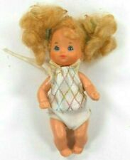 "Mattel Baby Doll 4.5"" Girl Heart Family 1976 In Jumper Vintage"