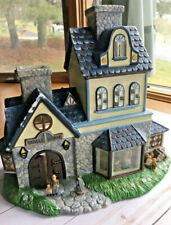 Partylite P7315 Candle Shoppe tealight house Olde World Village New In Box