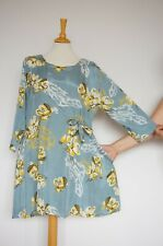 THE MASAI CLOTHING COMPANY New Label Viscose Floral Dress, Size:M