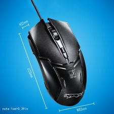 USB2.0 1600DPI 3 Buttons Wired Gaming Game Mice For Home Office Laptop Table PC