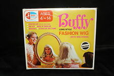 1971 Family Affair Buffy Fashion Wig Long Style Brown Color W/ Wig Stand NIB