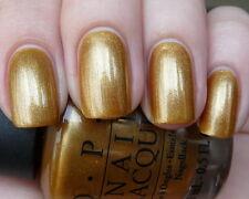 OPI Hong Kong BLING DYNASTY Yellow Gold Shimmer Nail Polish Lacquer H41 New SALE