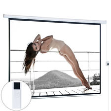 120 4:3 Projection Projector Screen HD Movie Matte White Electric Remote Control