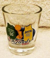 2008 NBA FINALS BOSTON CELTICS VS LA LAKERS  Shot GLASS NEW UNUSED