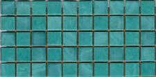50pcs N44 Aqua Natura Opaque Glass Mosaic Tiles 15mmx15mmx4mm Paper faced