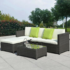 outdoor sofa furniture. Unique Furniture 5PC Outdoor Patio Sofa Set Sectional Furniture PE Wicker Rattan Deck Couch  Brown In A