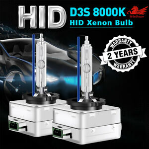 2x 8000K Ice Blue D3S D3R D3C HID Xenon Bulbs Replace Factory HID Headlight Pair