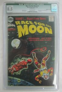 RACE FOR THE MOON #1, 1958; CGC qualified 8.5; great JACK KIRBY cover; tied 2nd