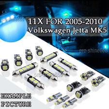 11 x Canbus Ice Blue LED Interior Light For 2005-2010 Volkswagen VW Jetta MK5 PL