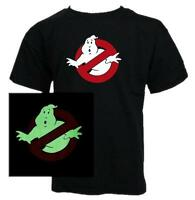 KIDS - GHOSTBUSTERS GLOW IN THE DARK CLASSIC MOVIE T-SHIRT Boys all sizes