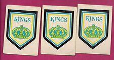 3 X 1977-78 OPC # 329 LA KINGS   TEAM LOGO  CARD (INV# A2158)