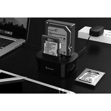 DUAL Festplatten Docking Station USB 3.0 SATA HDD Dock für 2 Festplatten schwarz