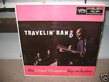 Lionel Hampton Big Orchestra Travelin' Band vinyl LP Verve 1957 MONO