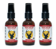 3 Bottles Deer Antler Velvet Liquid Spray Extract (Each 60 ml. 2 fl.oz)