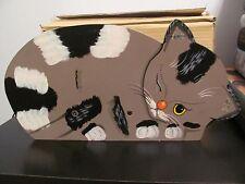 CUTE DECORATIVE WOODEN CAT PLANTER BOX - BNIB